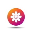 flower icon florist plant with petals sign vector image vector image