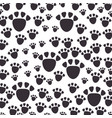 footprint mascot pattern background vector image vector image