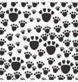 footprint mascot pattern background vector image