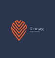 geotag with arrow or location pin logo icon design vector image vector image
