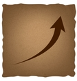 Growing arrow sign vector image vector image