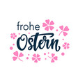happy easter typography poster in german language vector image vector image