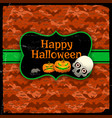 happy halloween red seamless pattern with text vector image
