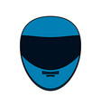 helmet motorcycle icon image vector image