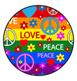 Hippie button vector image vector image