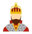 King icon flat style vector image