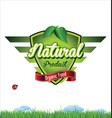 label for organic product vector image vector image