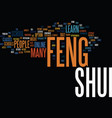 learn feng shui text background word cloud concept vector image vector image