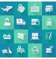 Logistic Icons Set White vector image