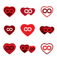 Love theme icons set infinite love idea conceptual vector image