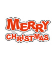 Merry Christmas Logo for holiday Emblem new year vector image vector image