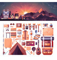 night landscape mountains sunset vector image vector image