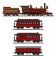 old red american steam train vector image vector image