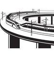 passenger trains cross bridge vector image vector image