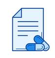 prescription line icon vector image vector image