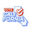 presidential vote in california usa 2020 state vector image vector image