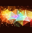 red pink green blue brown geometric background vector image vector image