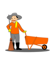 Road sweeper on white background vector image vector image