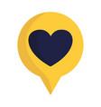 romantic speech bubble love heart feeling message vector image vector image