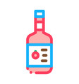 sauce bottle icon outline vector image
