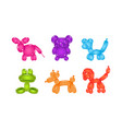 set of balloons in form of different animals vector image vector image