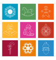 Set of Colorful Square Linear Icon vector image vector image