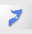 somalia map with shadow effect presentation vector image vector image