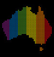spectrum dotted lgbt australia map vector image vector image