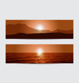 Sunset banners vector image