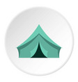 turquoise tent icon circle vector image vector image