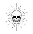 Vintage skull label emblem and logo vector image vector image
