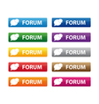 Forum buttons vector image