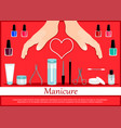 professional manicure poster in flat style vector image