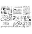 Set of different elements in doodle style vector image