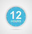 12 hours customer service icon vector image vector image