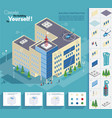3d building constraction vector image
