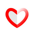 abstract heart red love symbol valentines day vector image vector image