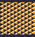 abstract seamless isometric geometric pattern vector image vector image