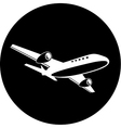 airliner icon vector image vector image