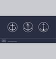 anchor emblems with circular frame vector image vector image