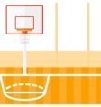 Background of basketball court vector image vector image