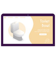 banner toilet bowl in isometric view vector image