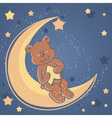 bear sweet dreams card vector image vector image
