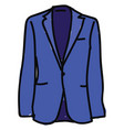 blue attire on white background vector image vector image