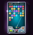 bubble game user interface vector image vector image