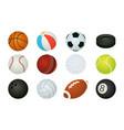cartoon balls sport inventory spheres vector image vector image