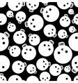Cartoon skull seamless pattern vector image vector image