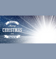christmas blue background merry happy vector image