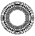 Circle Vintage Frame vector image vector image