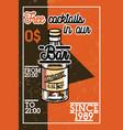 color vintage bar banner vector image vector image